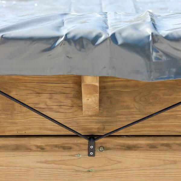 Winterplane für GRE Holzpool Macadamia