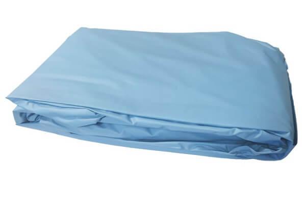 Poolfolie rund, 360 x 90-100 cm, 0,40 mm, überlappend, blau