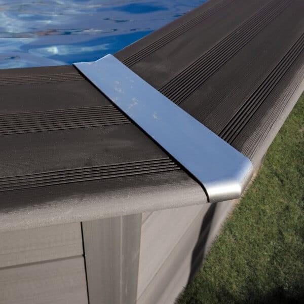 Rechteckpool Composite, 420 x 280 x 124 cm, anthrazit, Komplettset