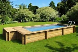 Holzpool rechteckig kaufen