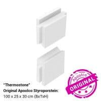 Styroporpool, 600 x 350 x 150 cm, Komplettset mit Treppe links und Sitzbank