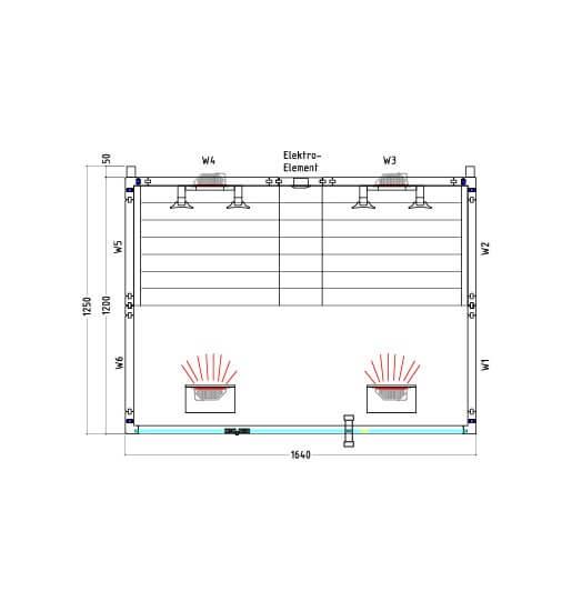 Infrarotkabine VitaMy Sound & Light, 164x125x202 cm, 2 Personen