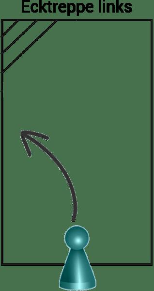 Styroporpool graublau, 800 x 400 x 150 cm, Komplettset mit AQUASTEP Ecktreppe links