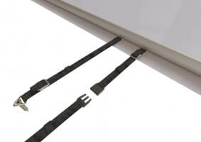 Stangenabdeckung P-580 für 600 x 320 cm, inkl. Handkurbel