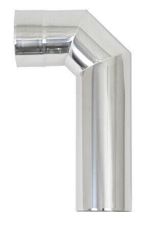 Edelstahl Winkelrohr 90° 115 mm rostfrei WZ90ST