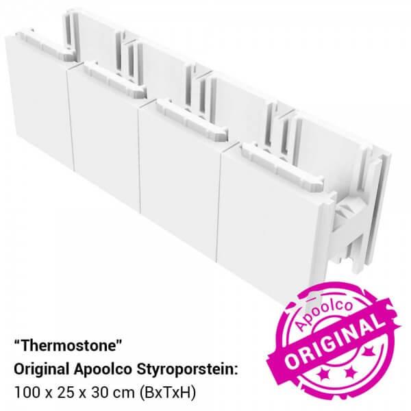 Thermostone Styroporstein für Ecktreppe aus Styroporsteinen für Schwimmbecken