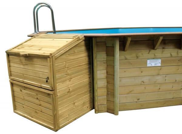Filterkasten für Holzpools von GRE, 146 cm Höhe