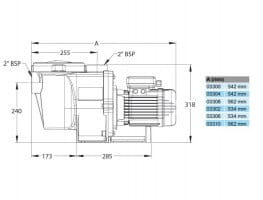 Poolpumpe Whisper Pro (5P1RD-1), 230 V