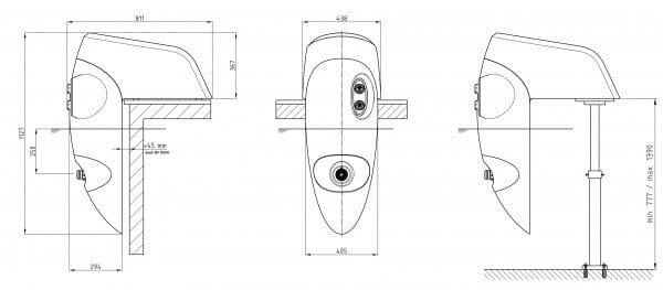 Einhänge-Gegenstromanlage Badu Jet riva 400 Volt