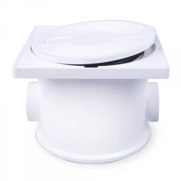 BWT Kabelanschlussdose für Pool Scheinwerfer, weiß - Deckel offen