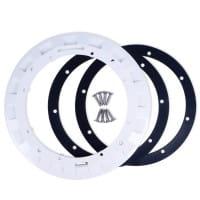 Flansch, Dichtung und Schrauben für Bodenablauf BL311 weiß (41015040)