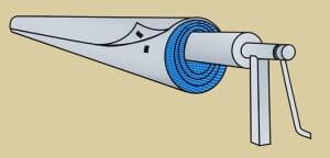 Solarplanen-Schutzhülle für Rundpools bis 6,40 m inkl. Klettverschluss