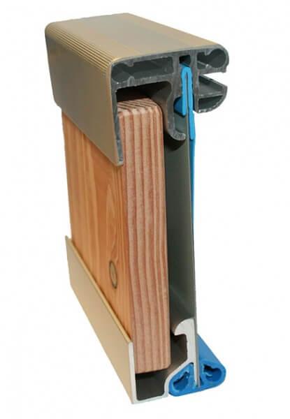 Holzpool Fun Wood, Ø350 x 90cm, Komplettset, Folie blau
