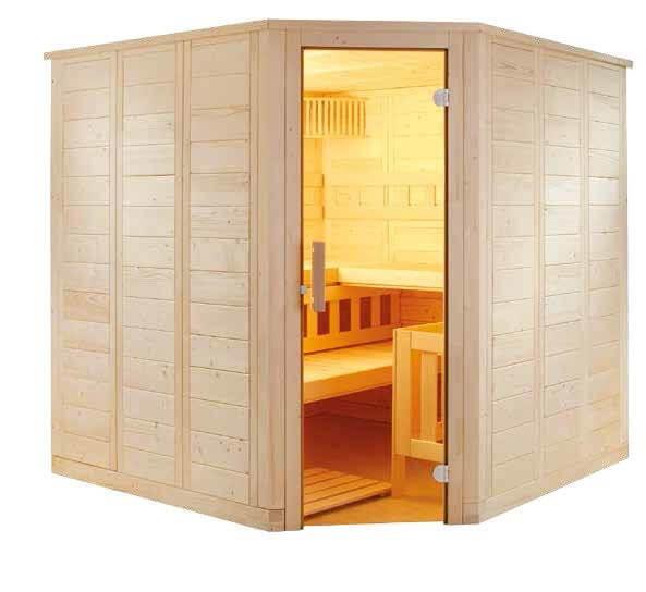 Sauna Wellfun Corner, 205x205x204 cm, 3 Personen