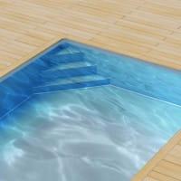Poolfolie für Styroporpool 600 x 300 x 120 cm mit Ecktreppenausprägung