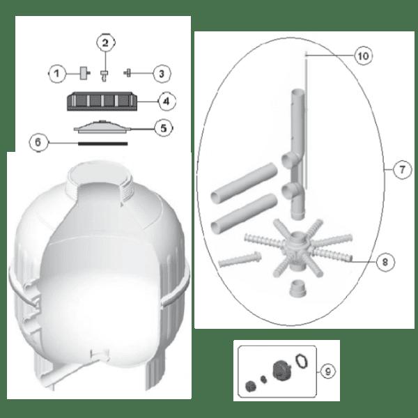 O-Ring für Top Mount Ventil bzw. Filterdeckel D400/500/600 (4404180201)