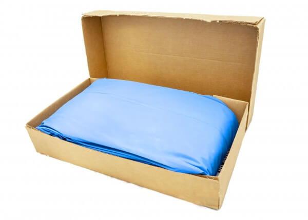 Poolfolie oval, 730 x 370 x 132 cm, 0,80 mm, blau, Einhängebiese