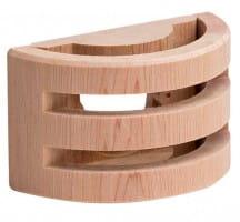 Holzgehäuse für Temperaturfühler F1 und F2 dunkel