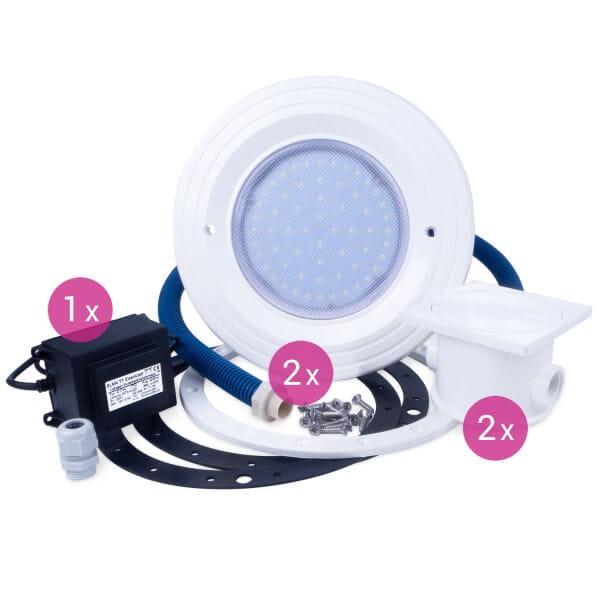 BWT Poolscheinwerfer 2er SET, Power-LED, weiß, 12 V