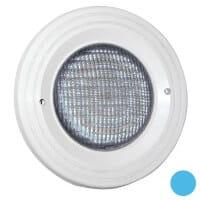 BWT weißer LED-Scheinwerfer Folienbecken, Blende adriablau