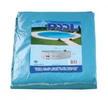 Poolfolie oval, 700 x 300 x 120 cm, 0,60 mm, mit Biese, blau