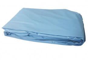 Poolfolie oval, 610 x 375  x 120 cm, 0,80 mm, überlappend, blau