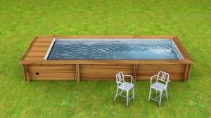 Holzpool Urban Pool 600 x 250 cm, Komplettset Varianten